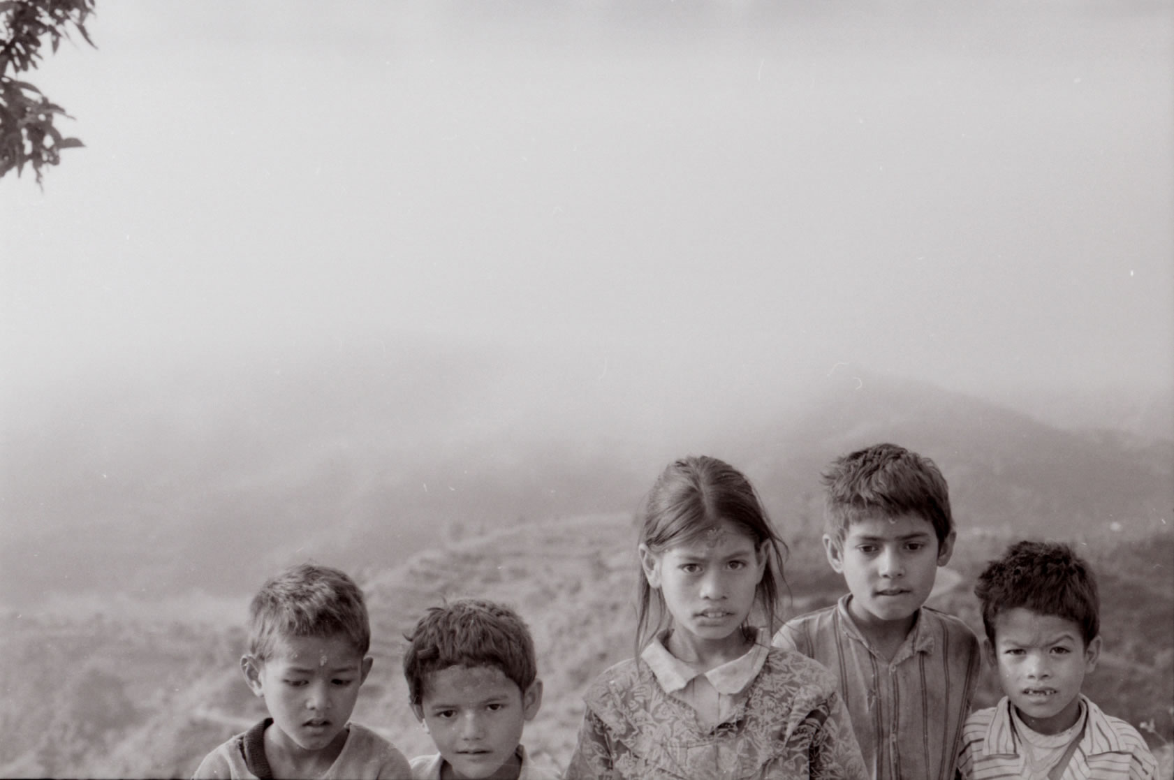 CHILDREN IN THE HIMALAYAS KALI TEMPLE
