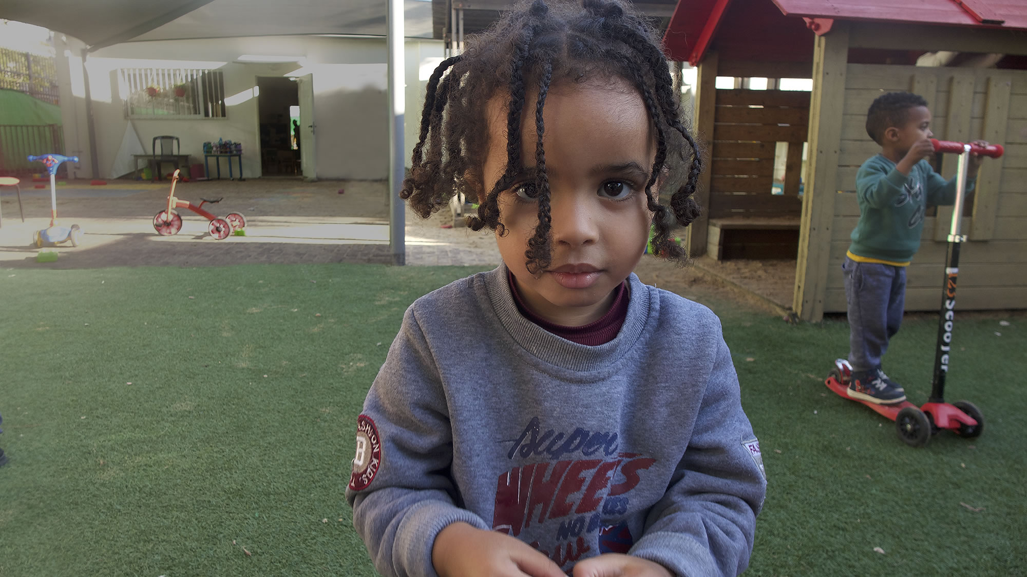 Child at UNITAF Tel Aviv