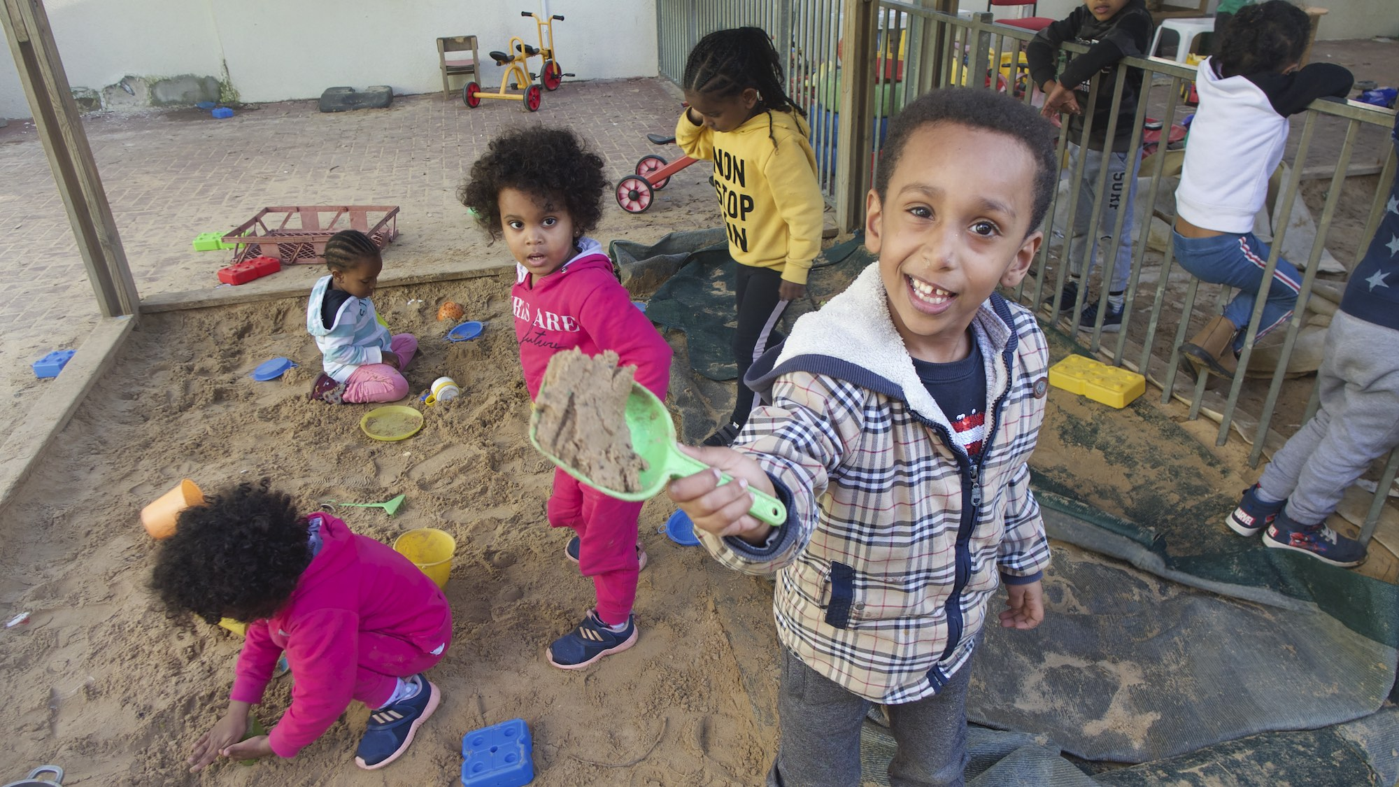 UNITAF children playing in tel aviv